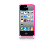 MiniSuit iPhone 4 Case for iPhone 4G / 4th Generation 4th Gen compatible with 16GB / 32GB + and MiniSuit LCD Cleaner keychain - Hot Pink Skin