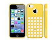 Minisuit TPU Holes Design Case Cover for iPhone 5C (Yellow)