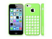 Minisuit TPU Holes Design Case Cover for iPhone 5C (Green)