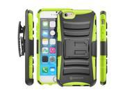 Minisuit Rugged Hybrid Kickstand Case + Belt Clip for iPhone 6 Plus 5.5 inch - Green
