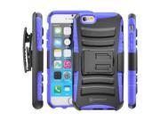Minisuit Rugged Hybrid Kickstand Case + Belt Clip for iPhone 6 Plus 5.5 inch - Blue