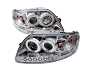 Ford F150 1997-2003 Expedition 1997-2002 CCFL LED Projector Headlights Chrome