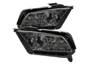 Ford Mustang 10-12 ( Non HID ) Halo DRL LED Projector Headlights - Black