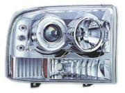 IPCW CWS-500C2 Ford Excursion 2000 - 2004 Head Lamps- Projector With Rings & Corners Chrome