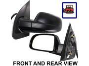 FORD FREESTAR 04-07 SIDE MIRROR LEFT DRIVER, POWER, SMOOTH FINISH, FOLDING