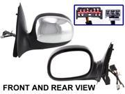 FORD F-SERIES PICKUP 98-01 SIDE MIRROR LEFT DRIVER, POWER, FOLDING, KOOL-VUE