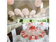 "5X Round White Paper Lanterns Lamp 6"" Wedding Birthday Party Decoration"