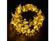 50 LED Solar Powered BlossomString Lights Waterproof for Decorative Gardens, Lawn, Patio, Christmas Trees, Weddings, Parties, Indoor and Outdoor Use (Warm White) 21 Ft