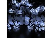 Solar String Lights, Agptek® 21Ft 30 LED Ice Cube Solar Powered Globe Fairy Lights for Garden Landscape Decoration Party Fence Path Wedding (Daylight White)