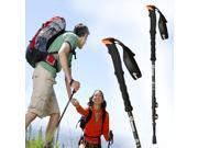 Trekking Pole Completely 100% Carbon Fiber Quick Lock Hiking Stick Ultralight walking Stick for Travel Hiking Climbing telescoping Alpenstocks with extended EVA Foam Handle