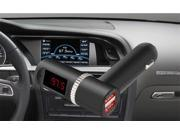 LCD Display Wireless In Car FM Radio Transmitter, 3.5mm  Bluetooth  Auto FM Transmitter w/ 5V/4.2A Dual USB Charging Music Control and Hands-free Calling Black