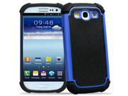 Double Layer Hibrid Impact Hard Case for Samsung Galaxy S3 SIII i9300 (Navy Blue)