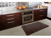 Anti-Slip and Anti-Fatigue Comfort Memory Foam Kitchen Mat in Brown