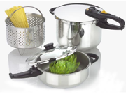 Fagor Duo Stainless Steel 4 and 8 Quarts Pressure Cooker Set 918060778