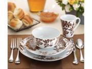 Paula Deen Set of 4 Tatnall Street Dinner Plates Coffee Bean