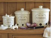 CHEFS Set of 3 Fresh Valley Farms Canisters