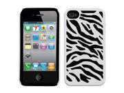 White Zebra/Black Zebra Shell +Silicone Case +Screen For iPhone 4 4S 9SIA1MR1X14054