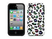 Colorful Leopard Design Shell +Silicone Case +Screen Protector For iPhone 4 4S 9SIA1MR1WT8576