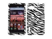 Black/White Design Snap on Case +Screen Protector For Optimus F3 LS720