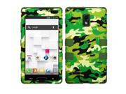 Green Woodland Camo/Army Green Case Silicone TUFF Cover for LG Optimus L9