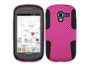 Hot Pink/Black Hard Shell +Silicone Case +Screen Cover For Exhibit T599