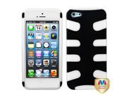 Rubberized Black/Clear Fishbone Shell +Silicone Case +Screen For iPhone 5 5S 9SIA1MR1WU3759