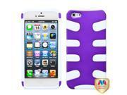 Purple/White Fishbone Shell +Silicone Case +Screen For iPhone 5 5S 9SIA1MR1WU3756