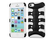 Rubberized Black/White Fishbone Shell +Silicone Case +Screen For iPhone 5C 9SIA1MR1X13956