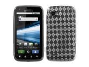 For MB865 Atrix 2 T-Clear Argyle Pane Silicone Candy Skin Protector Cover Case