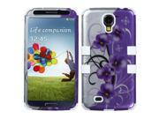 Twilight Petunias/White Protector Cover 2D TUFF Case for Samsung Galaxy S4