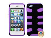 Rubberized Black/Purple Fishbone Shell +Silicone Case +Screen For iPhone 5 5S 9SIA1MR1WU3815
