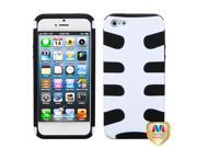 Solid White/Black Fishbone Shell +Silicone Case +Screen For iPhone 5 5S 9SIA1MR5C43815