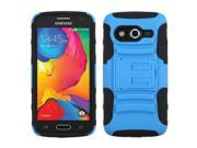 Blue/Black Armor Rugged Protector Case w/Stand for Samsung Galaxy Avant G386T