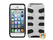 Silver Plating/Black Fishbone Shell +Silicone Case +Screen For iPhone 5 5S 9SIA1MR1WU3792