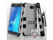 For Samsung Galaxy J7/Halo Gray/Black TUFF Hybrid Phone Protector Case Cover