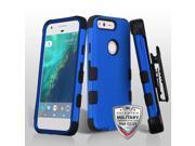 For Google Pixel Titanium Dark Blue/Black TUFF Hybrid Phone Protector Case Combo