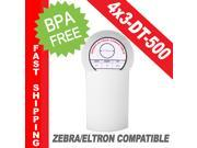 "Zebra/Eltron-Compatible 4 x 3 Labels (4"" x 3"") -- BPA Free! (1 Roll&#59; 500 Labels per Roll)"
