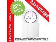 "Zebra/Eltron-Compatible 2.5 x 1 Labels (2-1/2"" x 1"") -- BPA Free! (1 Roll&#59; 1,380 Labels per Roll)"