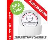 "Zebra/Eltron-Compatible 2.25 x 1.25 Labels (2-1/4"" x 1-1/4"") -- BPA Free! (1 Roll&#59; 1,000 Labels per Roll)"