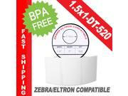 "Zebra/Eltron-Compatible 1.5 x 1 Labels (1-1/2"" x 1"") -- BPA Free! (1 Roll&#59; 520 Labels per Roll)"