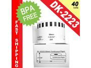 "BROTHER-Compatible DK-2223 Continuous Paper Labels (1-31/32"" x 100'&#59; 50mm*30.48m) -- BPA Free! (40 Rolls&#59; Continuous Paper)"
