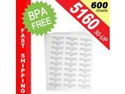 "(600 Sheets&#59; 18,000 Labels), Same Size-Avery© 5160, 30-UP, Address Labels (1"" x 2-5/8"") -- BPA Free!"