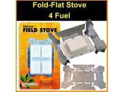 Esbit Style Fold Flat Tempered Survival Stove - Pocket Size - Esbit
