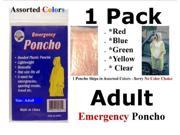 Adult Emergency Poncho - Assorted Colors - Liberty Mountain
