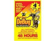 Debug Insect Repellent Patch up to 48 Hrs - 4 Pouches - (4 Patches Per Pouch) - Debug