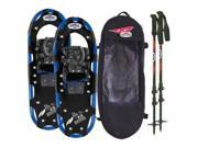 Redfeather Men s Series Hike 25 SV2 Snowshoes Kit Ski Poles and Carry Bag 147010KIT Redfeather