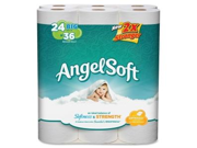 "Georgia Pacific 77239PK Angel Soft PS 24 Roll Bathroom Tissue, 2 Ply - 195 Sheets/Roll - 24 / Pack - 4"" x 4"" - White"