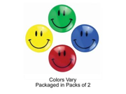 """Image of Smiley Face Magnets, 1-1/2"""" D, 2/PK, Assorted"""
