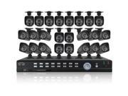Night Owl B-F900-161-12 32 Channel 32 Channel	 Video	 Security	System with 24 x 700 TVL Bullet Cameras
