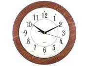 Sima 6415 Woodgrain Frame Wall Clock White Dial 12Inch